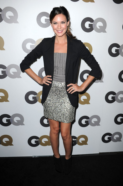 "Actress Odette Yustman arrives at the 15th annual ""GQ Men of the Year"" party held at Chateau Marmont on November 17, 2010 in Los Angeles, California."