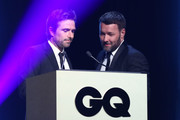 David Michod presents the Man of The Year award to Joel Edgerton during the GQ Australia Men of The Year Awards Ceremony at The Star on November 14, 2018 in Sydney, Australia.