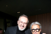 Jim Moore (L) and Giuseppe Zanotti attend GQ's Celebration of GQ Style Editor-In-Chief Will Welch during Milan Men's Fashion Week Fall/Winter 2016/2017 on January 16, 2016 at Mandarin Bar in Milan, Italy.