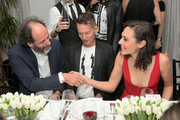 (L-R) Luca Guadagnino,  GQ Magazine Editor-in-Chief Jim Nelson and Gal Gadot attend GQ and Dior Homme private dinner in celebration of The 2017 GQ Men Of The Year Party at Chateau Marmont on December 7, 2017 in Los Angeles, California.  (Photo by Charley Gallay/Getty Images for GQ) *** Local Caption *** Luca Guadagnino; Jim Nelson; Gal Gadot