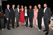 (L-R) Jonathan Groff, Dan Stevens, Taika Waititi, Gal Gadot, GQ Magazine Editor-in-Chief Jim Nelson, John Legend Chrissy Teigen, Kris Van Assche and Sebastian Stan attend GQ and Dior Homme private dinner in celebration of The 2017 GQ Men Of The Year Party at Chateau Marmont on December 7, 2017 in Los Angeles, California.  (Photo by Charley Gallay/Getty Images for GQ) *** Local Caption *** Jonathan Groff; Dan Stevens; Taika Waititi; Gal Gadot; Jim Nelson; John Legend Chrissy Teigen; Kris Van Assche; Sebastian Stan