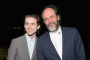 Timothée Chalamet and Luca Guadagnino attend GQ and Dior Homme private dinner in celebration of The 2017 GQ Men Of The Year Party at Chateau Marmont on December 7, 2017 in Los Angeles, California.  (Photo by Charley Gallay/Getty Images for GQ) *** Local Caption *** Timothee Chalamet; Luca Guadagnino