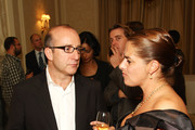 Paul McKenna and Tracy Emin attend a dinner hosted by GQ in honour of Michael Caine and the November 11th release of 'Harry Brown' held at the Dom Perignon Ballroom on October 13, 2009 in London, England.