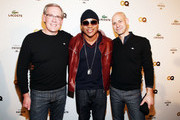 (L-R) GQ Editor-In-Cheif Jim Nelson, recording artist LL Cool J and GQ publisher Chris Mitchell  attends GQ, Lacoste And Patron Tequila Celebrate The Super Bowl In Indianapolis at The Stutz Building on February 3, 2012 in Indianapolis, Indiana.