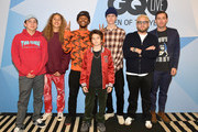 Gio Galicia, Olan Prenatt, Na-kel Smith, Sunny Suljic, Lucas Hedges, Jonah Hill and Zach Baron attend GQ Live - The World Of Jonah Hill With The Cast Of 'Mid90s' at NeueHouse Los Angeles on December 07, 2018 in Hollywood, California.