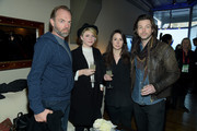 """(L-R) Hugo Weaving, Alicia Ni Ghrainne, Camille McCurry and Michael Kinirons attend GREY GOOSE Blue Door Hosts """"Strangerland"""" Party at Sundance on January 23, 2015 in Park City, Utah."""