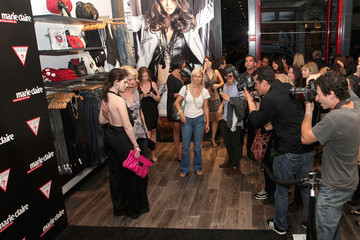 Lydia Hearst Michelle Trachtenberg GUESS and Marie Claire Host Opening of GUESS Flagship - Inside