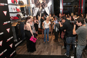 (L-R) Actress Michelle Trachtenberg and model Lydia Hearst attend the GUESS Flagship Boutique opening hosted by Marie Claire and GUESS at GUESS Flagship Boutique on July 22, 2009 in New York City.