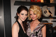 Michelle Trachtenberg and Lydia Hearst walk the red carpet at the GUESS Flagship Boutique opening hosted by Marie Claire and GUESS at GUESS Flagship Boutique on July 22, 2009 in New York City.