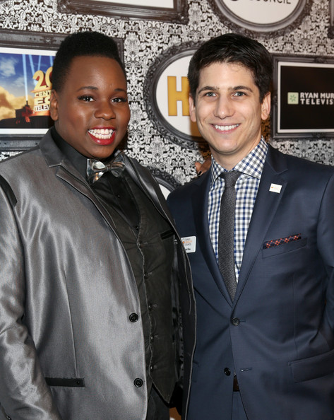Photo of Alex Newell & her friend actor  Gabriel Blau - Los Angeles