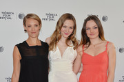 (L-R) Actors Alexia Rasmussen, Louisa Krause and Emily Meade attend the 'Gabriel' Premiere during the 2014 Tribeca Film Festival at the SVA Theater on April 17, 2014 in New York City.