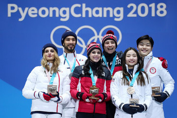 Gabriella Papadakis Medal Ceremony - Winter Olympics Day 11