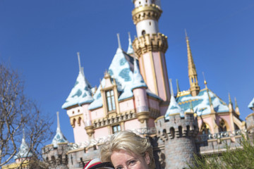Gaia Wise Emma Thompson Visits Disneyland with Her Daughter