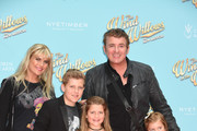 Shane Richie, Christie Goddard and family attend the Gala performance of Wind In The Willows at London Palladium on June 29, 2017 in London, England.