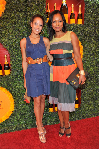 Third Annual Veuve Clicquot Polo Classic - Los Angeles - Red Carpet [red carpet,clothing,dress,orange,cocktail dress,event,carpet,premiere,flooring,red carpet,actresses,garcelle beauvais,dania ramirez,los angeles,pacific palisades,california,will rogers state historic park,l,veuve clicquot polo classic]