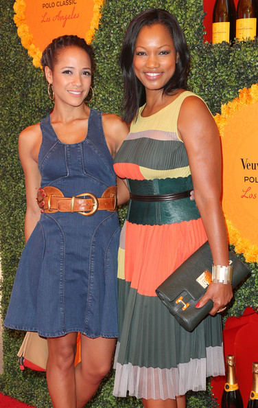 Third Annual Veuve Clicquot Polo Classic - Los Angeles - Arrivals [clothing,fashion,orange,dress,event,cocktail dress,arrivals,actresses,garcelle beauvais,dania ramirez,los angeles,pacific palisades,california,will rogers state historic park,l,veuve clicquot polo classic]