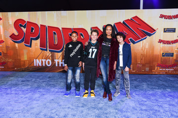 Garcelle Beauvais World Premiere Of Sony Pictures Animation And Marvel's 'Spider-Man: Into The Spider-Verse' - Red Carpet