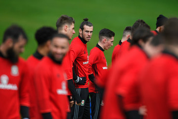 Gareth Bale Wales Open Soccer Training Session
