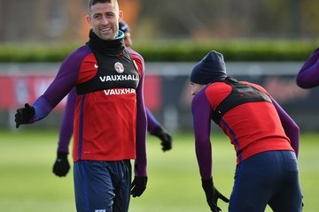 Gary Cahill England Training and Press Conference
