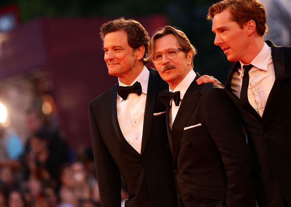 Gary Oldman (L-R) Actors Colin Firth, Gary Oldman and Benedict Cumberbatch attend the 'Tinker, Tailor, Soldier, Spy' premiere at the Palazzo del Cinema during the 68th Venice Film Festival on September 5, 2011 in Venice, Italy.