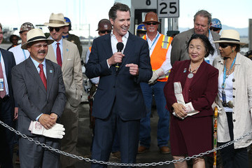 Gavin Newsom Ed Lee Bay Bridge Officially Re-Opens After Years of Repairs