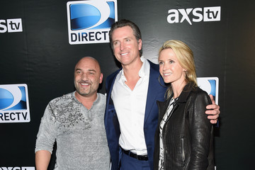 Gavin Newsom Jennifer Siebel Newsom DirecTV Super Saturday Night