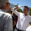 Gavin Newsom California Gubernatorial Candidate Gavin Newsom Campaigns In Oakland Ahead Of Tuesday's Primary
