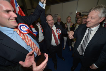 Gavin Robinson Nigel Dodds Attends His Constituency Declaration