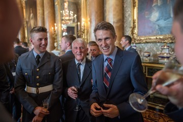 Gavin Williamson Reception At Buckingham Palace To Commemorate The Royal Air Force's 100th Birthday