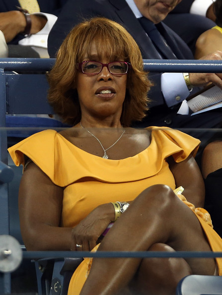 gayle king photos photos   us open day 1   zimbio