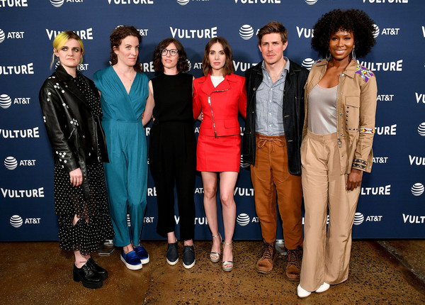 Vulture Festival Presented By AT&T - Milk Studios, Day 1 [suit,fashion,event,premiere,formal wear,fashion design,carpet,carly mensch,gayle rankin,chris lowell,sydelle noel,liz flahive,new york city,milk studios,at t,vulture festival]
