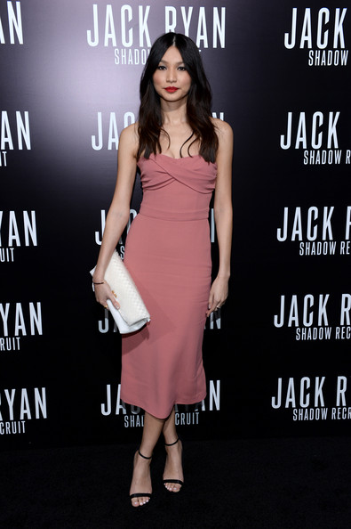 """Premiere Of Paramount Pictures' """"Jack Ryan: Shadow Recruit"""" - Arrivals [jack ryan: shadow recruit,dress,clothing,fashion model,cocktail dress,pink,fashion,premiere,footwear,carpet,flooring,arrivals,gemma chan,tcl chinese theatre,california,hollywood,paramount pictures,premiere,premiere]"""