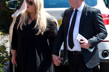 Gemma Collins Funeral OF Entertainer and Producer David Gest