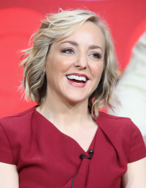 2016 Summer TCA Tour - Day 15 [hair,blond,face,hairstyle,chin,eyebrow,beauty,lady,smile,lip,geneva carr,beverly hills,california,the beverly hilton hotel,cbs,bull,summer tca,portion,panel discussion,television critics association summer tour]