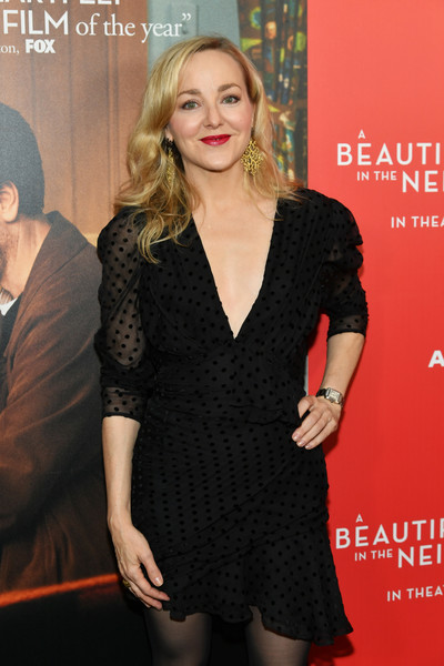 'A Beautiful Day In The Neighborhood' New York Screening [clothing,little black dress,dress,premiere,cocktail dress,event,carpet,neck,long hair,style,geneva carr,a beautiful day in the neighborhood,new york,brookfield place,henry r. luce auditorium,screening,new york screening]