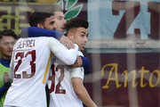 Stephan El Shaarawy of Roma celebrates after scoring 0-1 during the Serie A match between Genoa CFC and AS Roma at Stadio Luigi Ferraris on November 26, 2017 in Genoa, Italy.