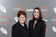 "Sally Wainwright (L) and Suranne Jones attend the ""Gentleman Jack"" photocall and Q&A during the BFI & Radio Times Television Festival 2019 at BFI Southbank on April 14, 2019 in London, England."