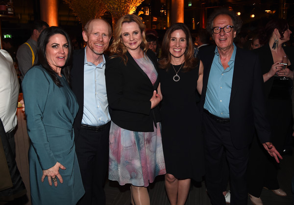 National Geographic's Premiere Screening of 'Genius' in London - Reception [people,social group,event,fun,fashion,friendship,party,formal wear,crowd,suit,emily watson,ron howard,geoffrey rush,ceo,evp,director,london,national geographic,premiere screening of ``genius,reception]