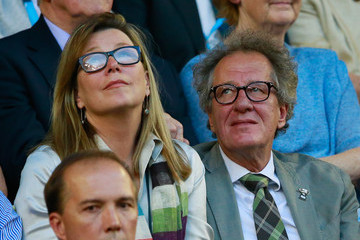 Geoffrey Rush Celebs Watch the Australian Open