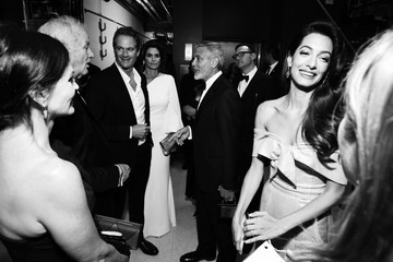 George Clooney Cindy Crawford American Film Institute's 46th Life Achievement Award Gala Tribute To George Clooney - Backstage