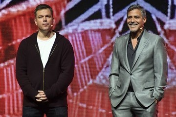 George Clooney Matt Damon CinemaCon 2017 - Paramount Pictures Presentation Highlighting Its 2017 Summer and Beyond