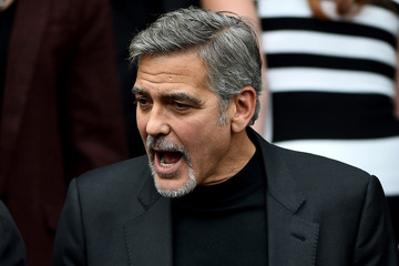 George Clooney George Clooney Visits Former Homeless Workers at a Scottish Sandwich Shop