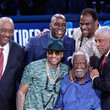 George Gervin Celebrities Attend The 68th NBA All-Star Game - Inside