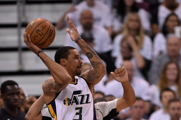 George Hill Los Angeles Clippers v Utah Jazz - Game Three