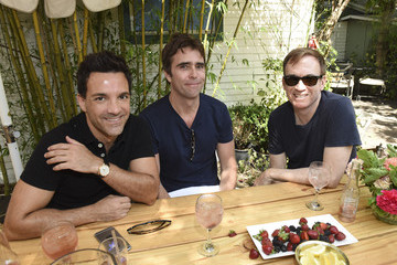 George Kotsiopoulos Conde Nast Traveler Hosts Private Lunch At San Vicente Bungalows With Jeff Klein, Pilar Guzman, And Lisa Eisner