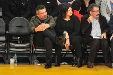 George Lopez Celebrities At The Los Angeles Lakers Game