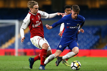 George McEachran Chelsea Vs. Arsenal - FA Youth Cup Final: First Leg