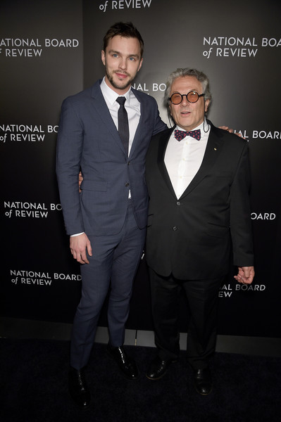 Celebs Attend the 2015 National Board of Review Gala [suit,formal wear,tuxedo,fashion,white-collar worker,tie,event,premiere,bow tie,blazer,nicholas hoult,celebs,george miller,new york city,cipriani 42nd street,l,national board of review gala]