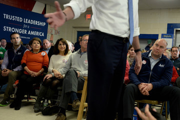 George P. Bush Jeb Bush Holds Town Hall in New Hampshire Ahead of Primary