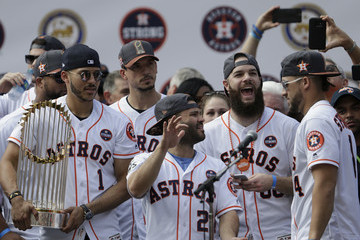 George Springer Houston Astros Victory Parade
